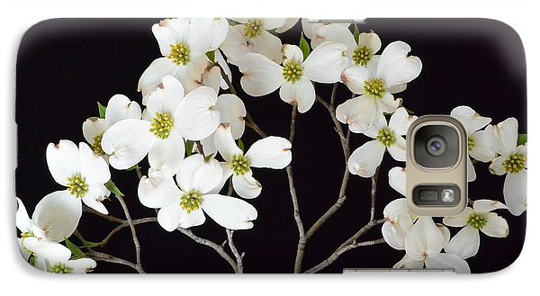 Galaxy Case featuring the photograph White Dogwood Branch by Jeannie Rhode