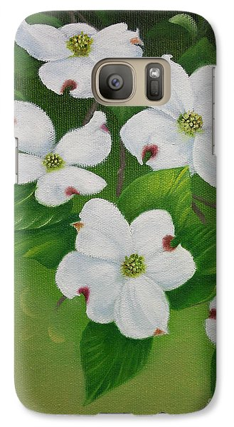 Galaxy Case featuring the painting White Dogwoods by Jimmie Bartlett