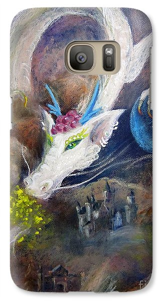 Galaxy Case featuring the painting White Dragon by Jieming Wang