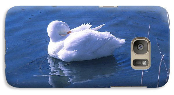 Galaxy Case featuring the photograph White Duck by David Klaboe