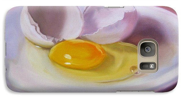 Galaxy Case featuring the painting White Egg Study by LaVonne Hand