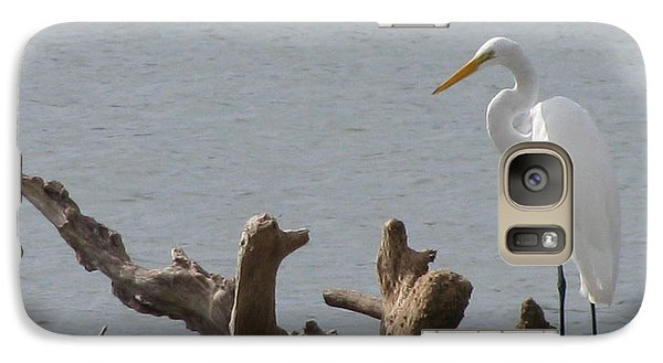 Galaxy Case featuring the photograph White Egret by Jimmie Bartlett