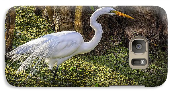 Egret Galaxy S7 Case - White Egret On The Hunt by Marvin Spates