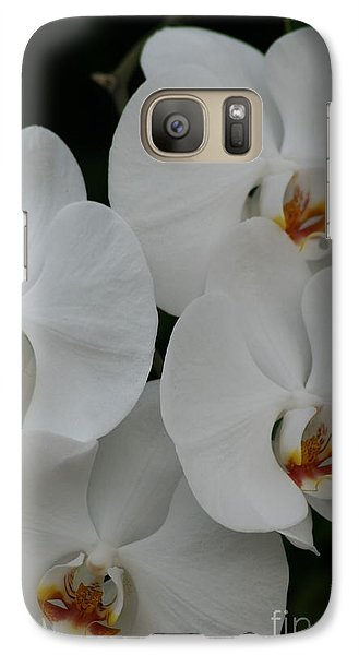 Galaxy Case featuring the photograph White Elegance by Mary Lou Chmura