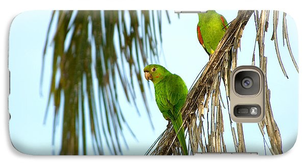 White-eyed Parakeets, Brazil Galaxy S7 Case by Gregory G. Dimijian, M.D.
