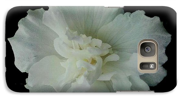 Galaxy Case featuring the photograph White Flower By Saribelle Rodriguez by Saribelle Rodriguez