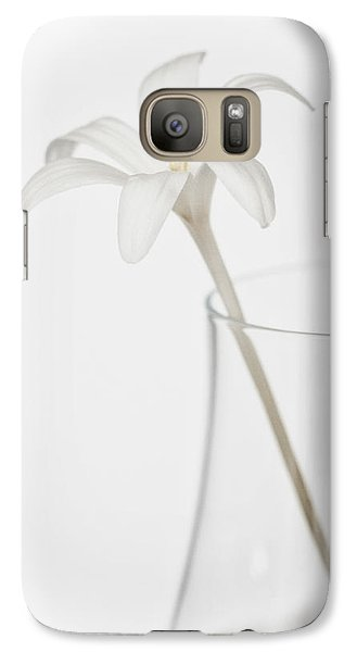Galaxy Case featuring the photograph White Flower In A Vase by Zoe Ferrie