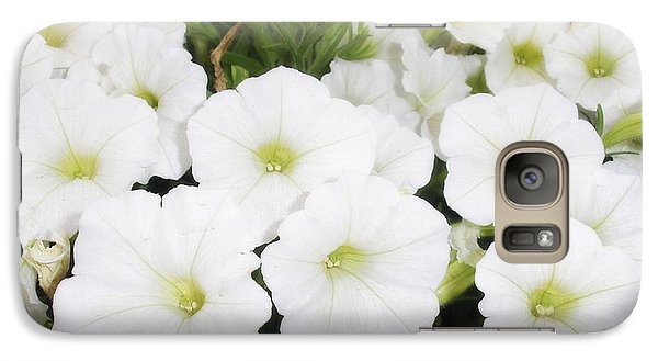 Galaxy Case featuring the photograph White Flowers by Michael Dohnalek