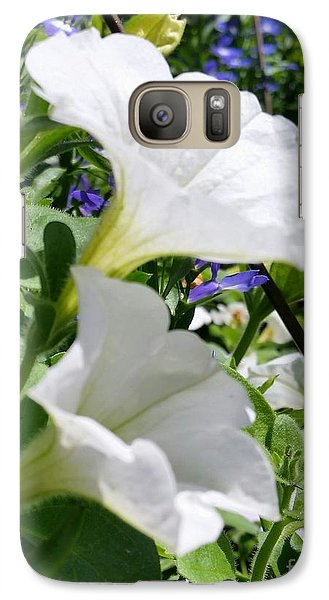 Galaxy Case featuring the photograph White Flowers by Rose Wang