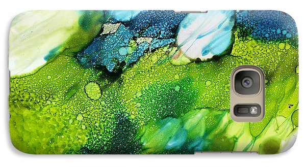 Galaxy Case featuring the painting White Fusion by Yolanda Koh