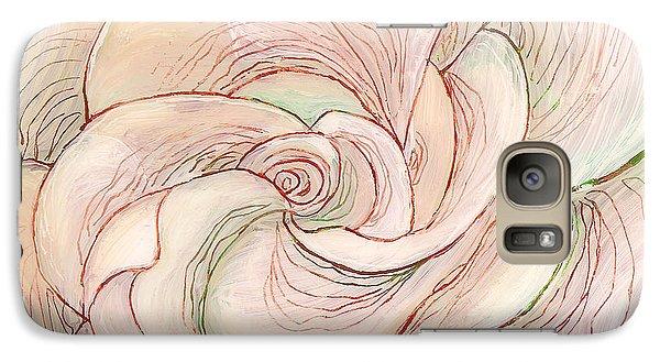 Galaxy Case featuring the painting White Gardenia 1 by Anna Skaradzinska