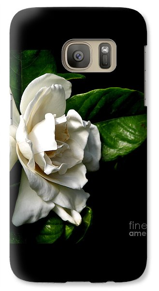 Galaxy Case featuring the photograph White Gardenia by Rose Santuci-Sofranko