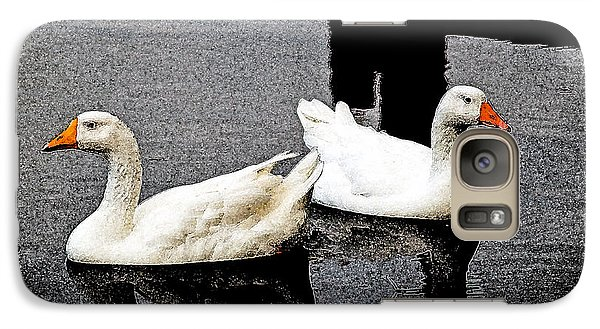 Galaxy Case featuring the photograph White Geese by Randy Sylvia
