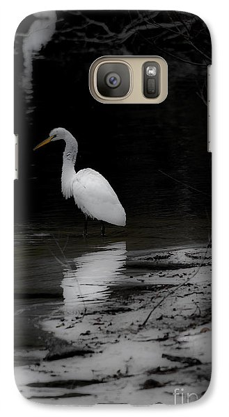 Galaxy Case featuring the photograph White Heron by Angela DeFrias