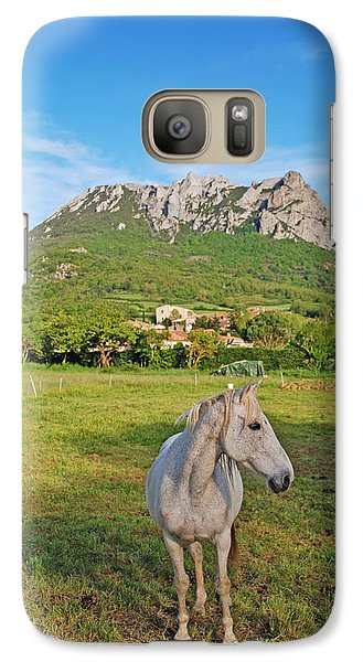Galaxy Case featuring the photograph White Horse Dreaming by Ankya Klay