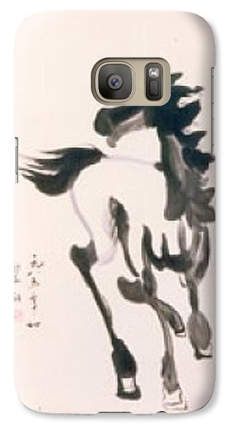 Galaxy Case featuring the painting White Horse  by Fereshteh Stoecklein