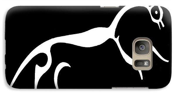 Galaxy Case featuring the digital art White Horse Of Uffington by Vagabond Folk Art - Virginia Vivier