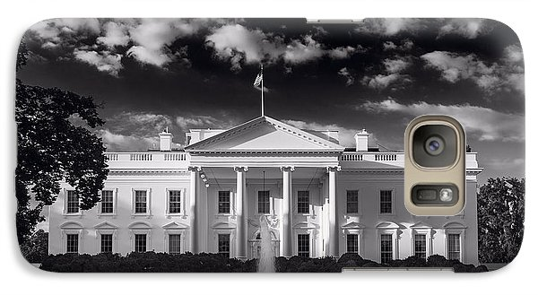 White House Sunrise B W Galaxy Case by Steve Gadomski