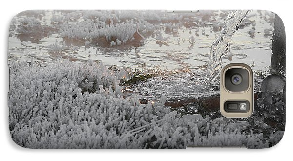 Galaxy Case featuring the photograph White Ice by Linda Segerson