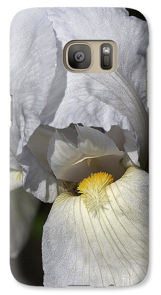Galaxy Case featuring the photograph White Iris by Joy Watson