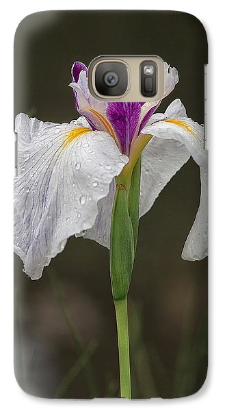 Galaxy Case featuring the photograph White Iris by Shirley Mitchell
