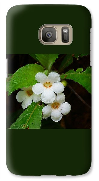 Galaxy Case featuring the photograph White Jungle Wildflower by Blair Wainman