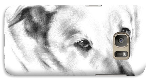 Galaxy Case featuring the drawing White Labrador by Natasha Denger