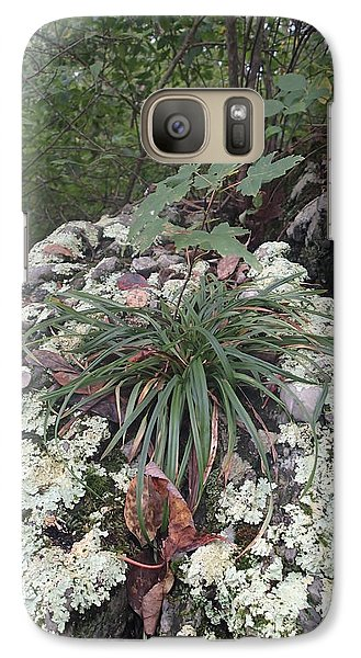 Galaxy Case featuring the photograph White Lichen by Robert Nickologianis