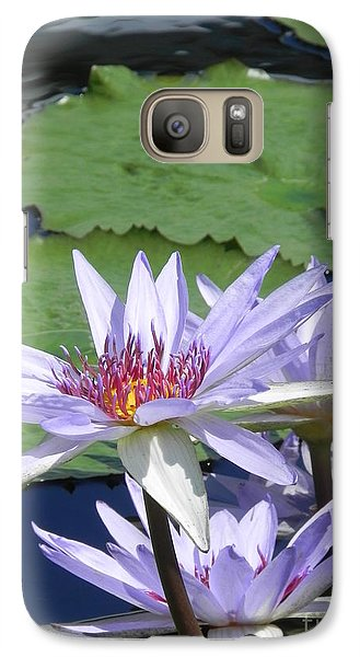 Galaxy Case featuring the photograph White Lilies by Chrisann Ellis