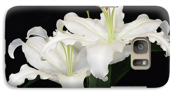 Galaxy Case featuring the photograph White  Lilies by Jeannie Rhode
