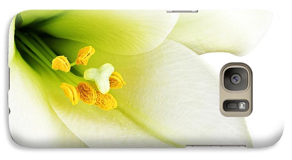 Lily Galaxy S7 Case - White Lilly Macro by Johan Swanepoel