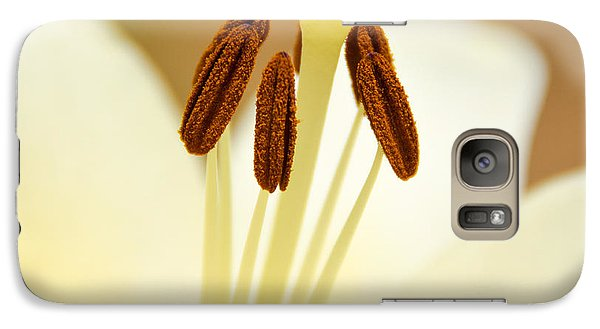 Galaxy Case featuring the photograph White Lily #2 by Lisa L Silva
