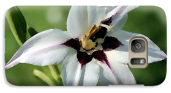 Galaxy Case featuring the photograph White Lily - A Beauty by Ellen Tully