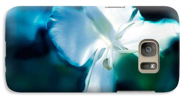 Galaxy Case featuring the photograph White Lily by Frank Bright