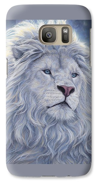 Animal Galaxy S7 Case - White Lion by Lucie Bilodeau