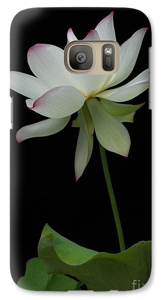 Galaxy Case featuring the photograph White Lotus by Dodie Ulery