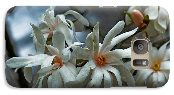 Galaxy Case featuring the photograph White Magnolia by Rowana Ray