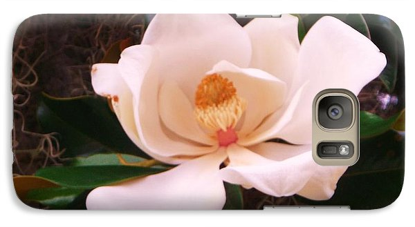 Galaxy Case featuring the photograph White Magnolia by Yolanda Rodriguez