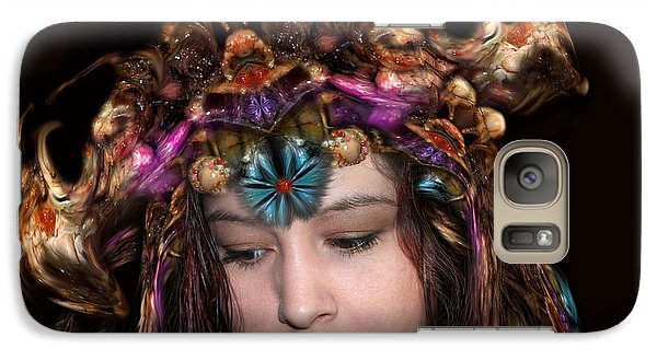 Galaxy Case featuring the digital art White Meat And Bones Tiara by Otto Rapp