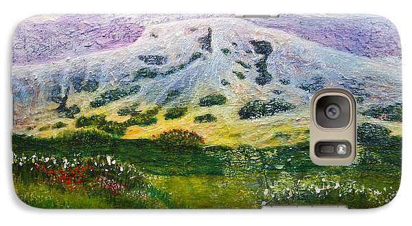 Galaxy Case featuring the painting White Mountain Stana Fe by Ron Richard Baviello