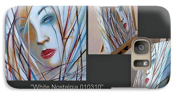 Galaxy Case featuring the painting White Nostalgia 010310 Comp by Selena Boron