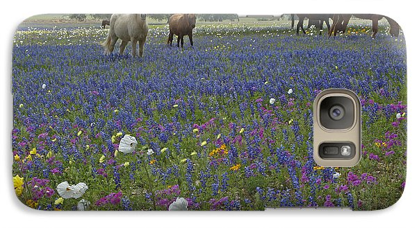 Galaxy Case featuring the photograph White On Blue by Susan Rovira