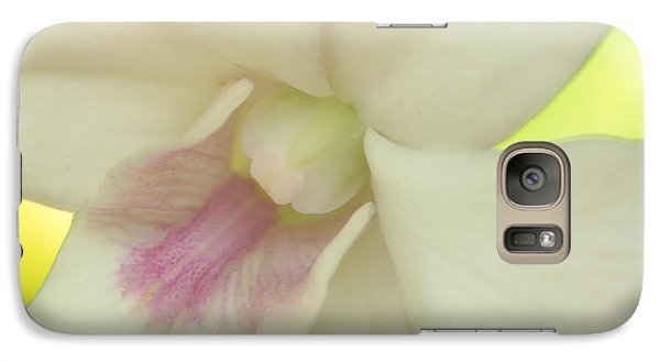 Galaxy Case featuring the photograph White Orchid by Greg Allore