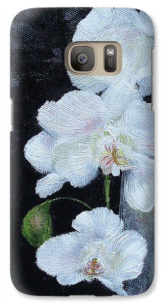Galaxy Case featuring the painting White Orchid by Judith Rhue