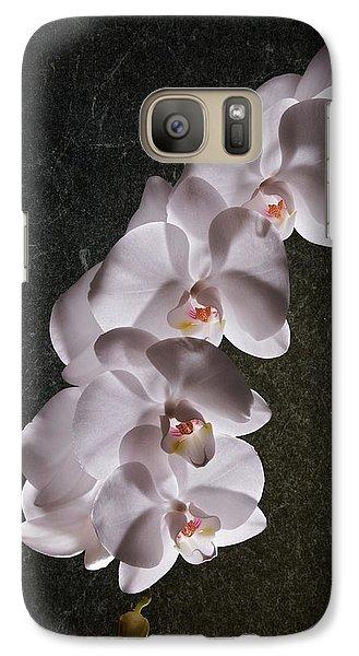 White Orchid Still Life Galaxy S7 Case by Tom Mc Nemar