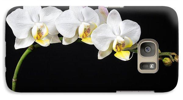 White Orchids Galaxy S7 Case by Adam Romanowicz
