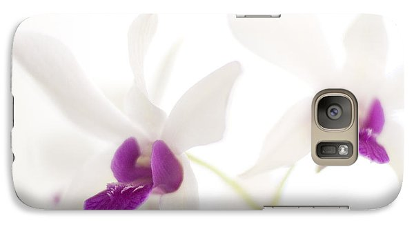 Galaxy Case featuring the photograph White Orchids by Bradley R Youngberg