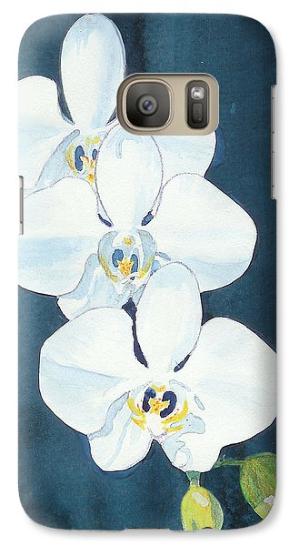 Galaxy Case featuring the painting White Orchids by C Sitton