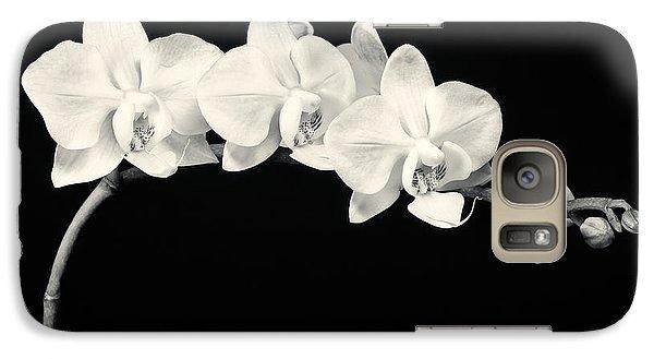 White Orchids Monochrome Galaxy S7 Case