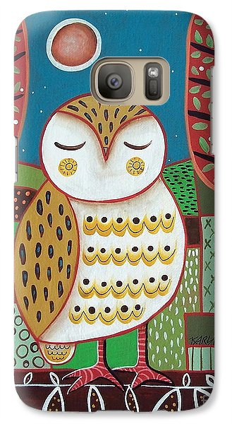 White Owl Galaxy Case by Karla Gerard